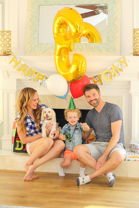 Family on Brady's 3rd birthday by A Lady Goes West