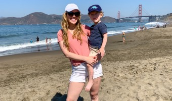 Ashley and Brady at Baker Beach by A Lady Goes West