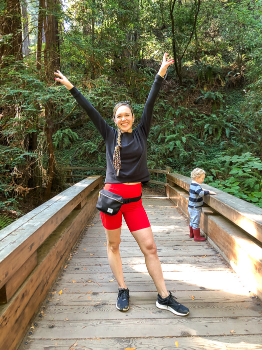 Ashley and Brady at Muir Woods bridge by A Lady Goes West