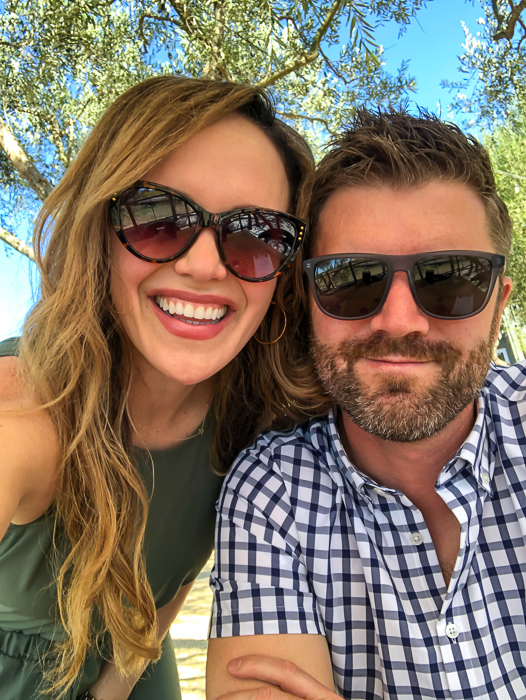 Ashley and Dave at Calmere Winery by A Lady Goes West