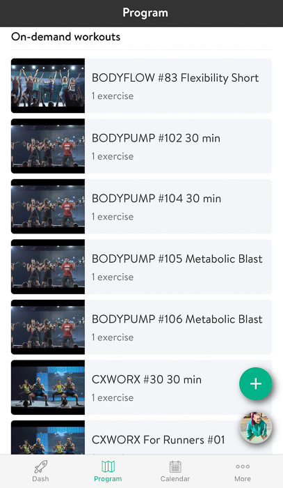 Assigned workouts from Les Mills On Demand A Lady Goes West