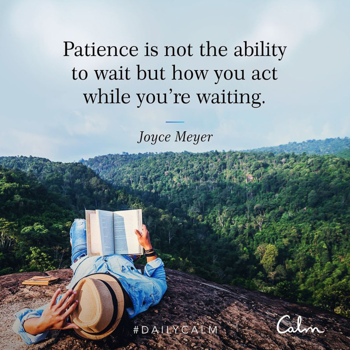 Patience quote by A Lady Goes West