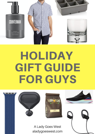 Holiday gift guide for guys by A Lady Goes West