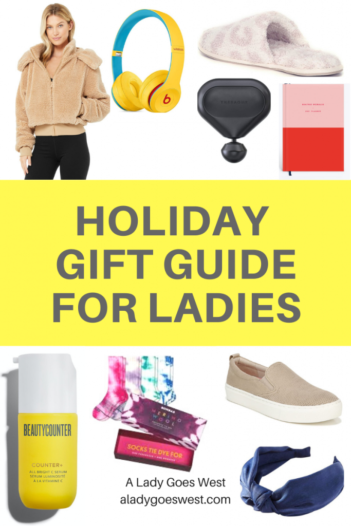 Holiday gift guide for ladies by A Lady Goes West