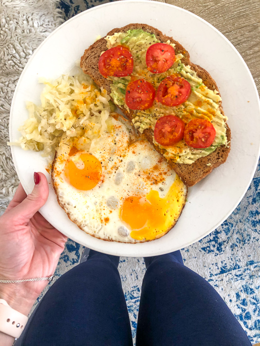 Avo toast and eggs by A Lady Goes West