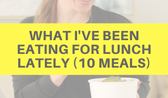 What I've been eating for lunch lately (10 meals) by A Lady Goes West