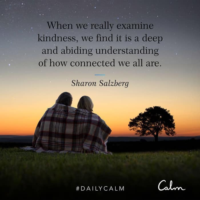 Kindness quote by CALM on A Lady Goes West January 2021