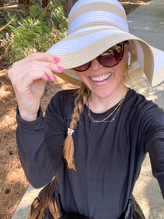 Ashley in big hat by A Lady Goes West March 2021