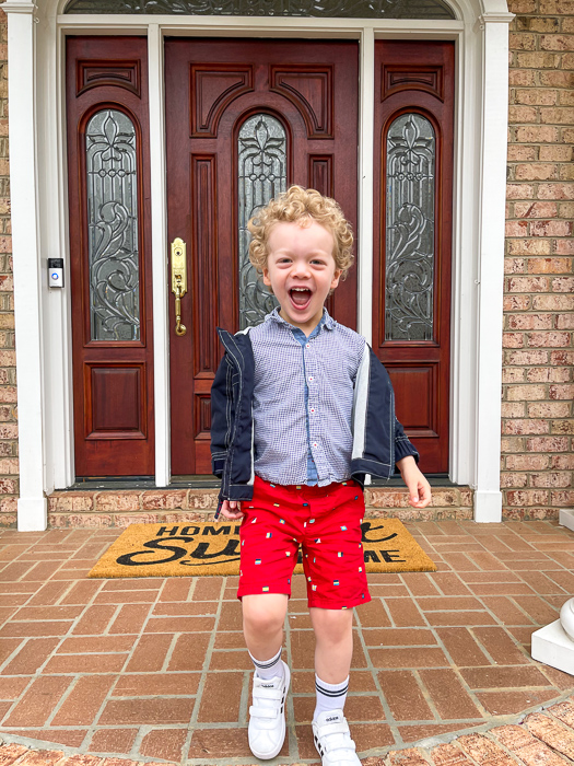 Brady before school by A Lady Goes West March 2021