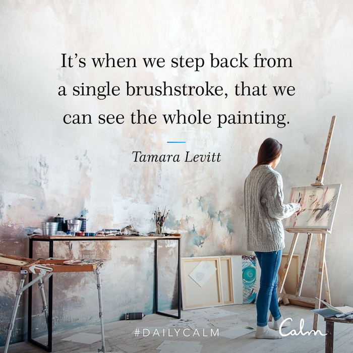 Painting quote from CALM by A Lady Goes West