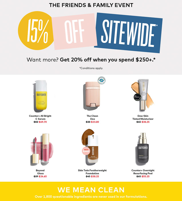 Beautycounter sale by A Lady Goes West