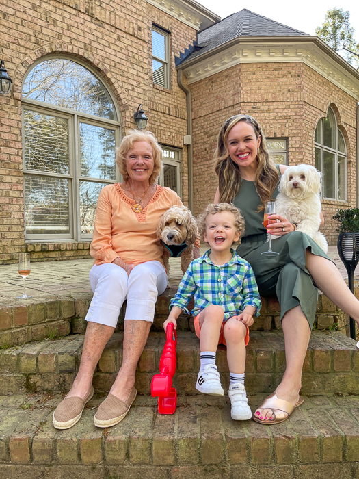Easter family with mom 2021 by A Lady Goes West