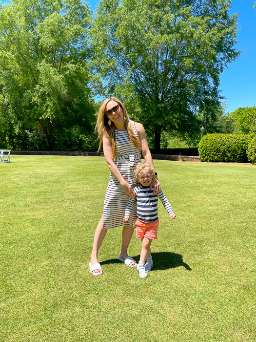 Ashley and Brady after lunch in Ballantyne by A Lady Goes West May 2021