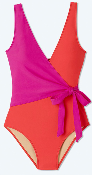 Wrap bathing suit by A Lady Goes West May 2021