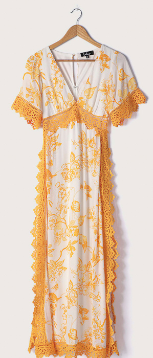 Yellow maxi dress by A Lady Goes West May 2021
