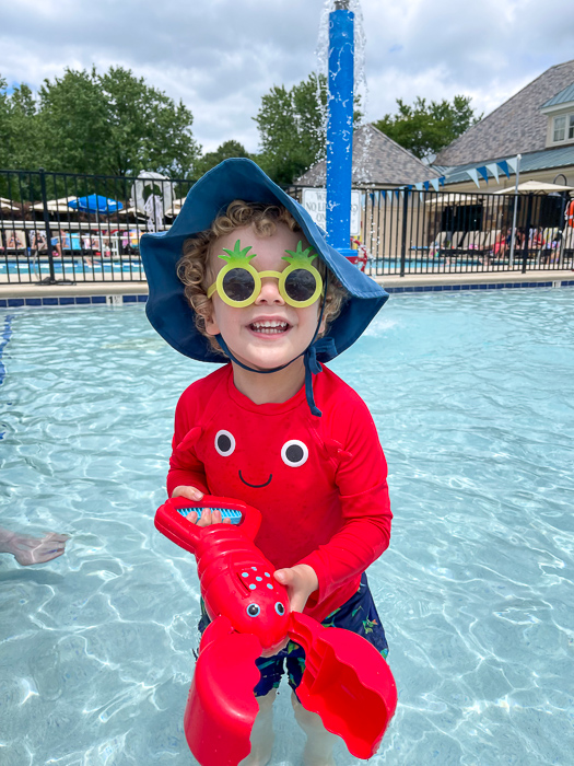 Brady at the pool 2021 by A Lady Goes West