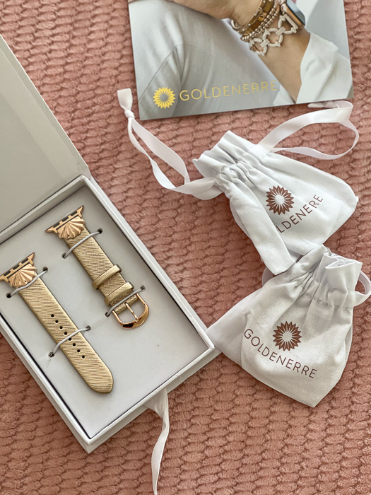 Goldenerre watch strap by A Lady Goes West