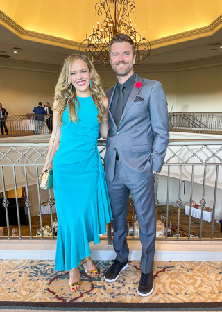 Ashley and Dave at wedding by A Lady Goes West