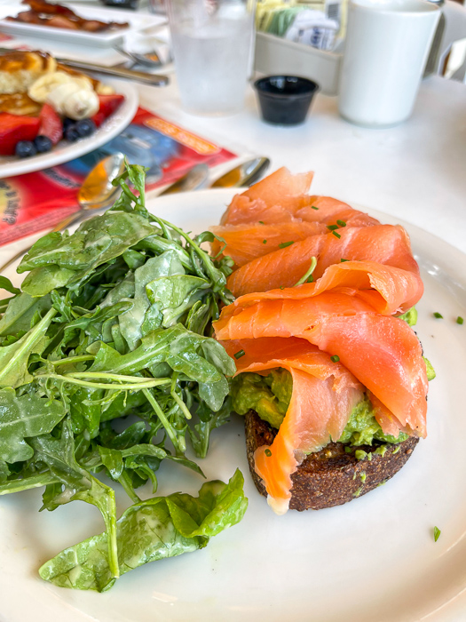 Avo toast from The Briar Patch by A Lady Goes West