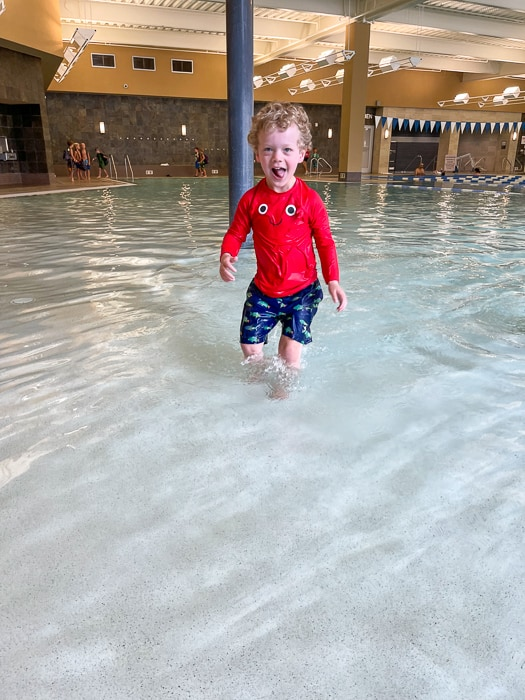 Brady swim lessons by A Lady Goes West