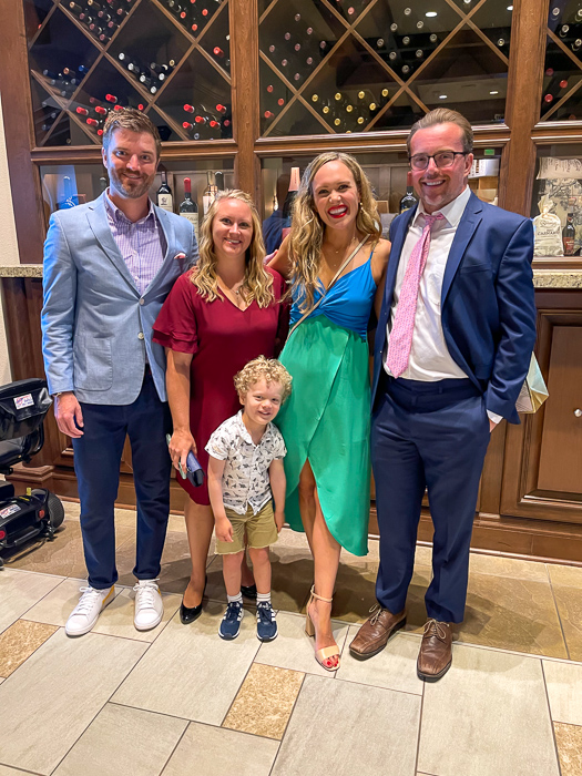 Family before rehearsal dinner by A Lady Goes West