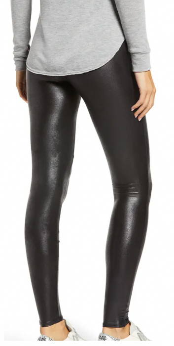 Faux leather leggings by A Lady Goes West