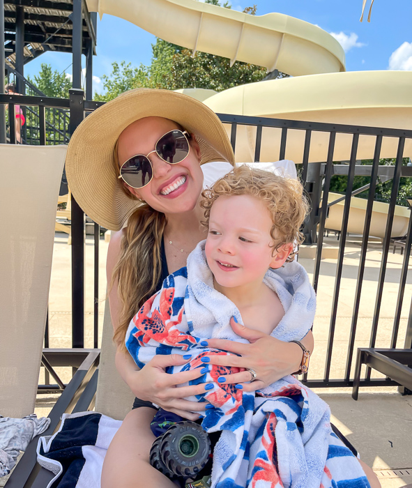 Ashley and Brady at the pool by A Lady Goes West