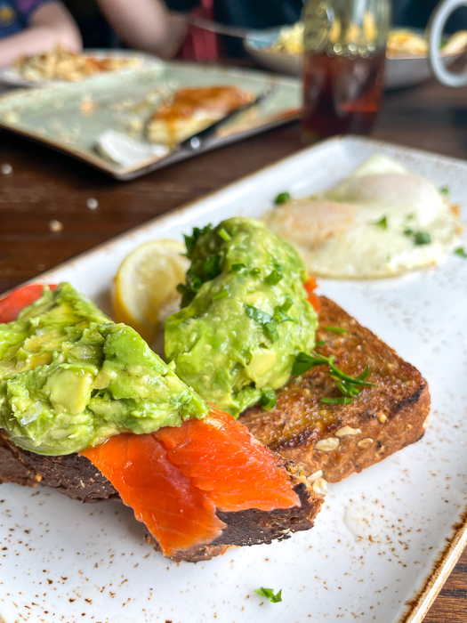 Avo toast with salmon from First Watch by A Lady Goes West