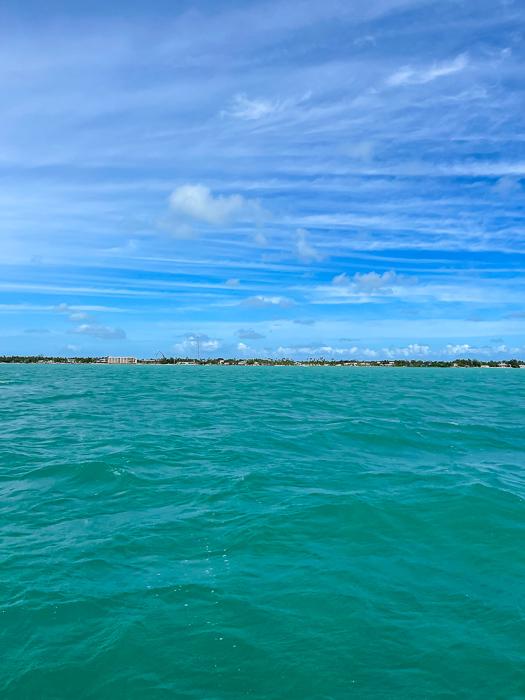 Blue-green waters in Islamorada by A Lady Goes West