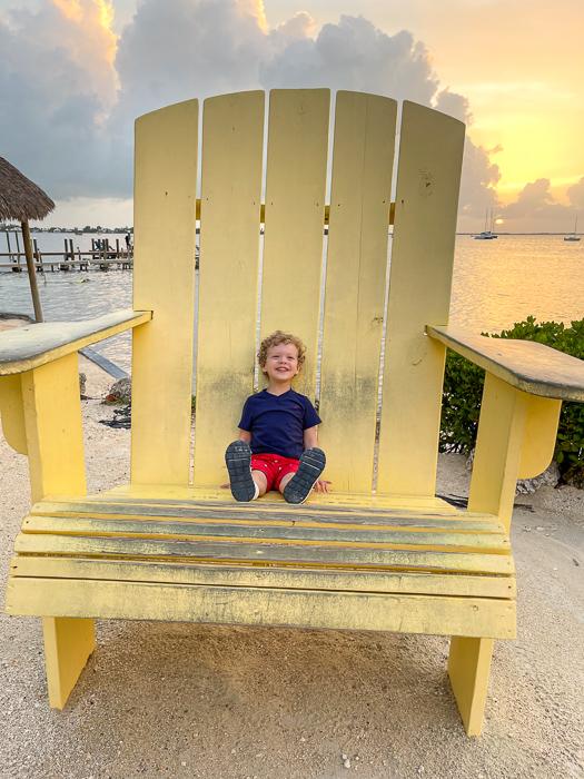 Brady in beach chair by A Lady Goes West
