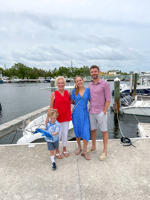 Family and Mom in Key Largo by A Lady Goes West