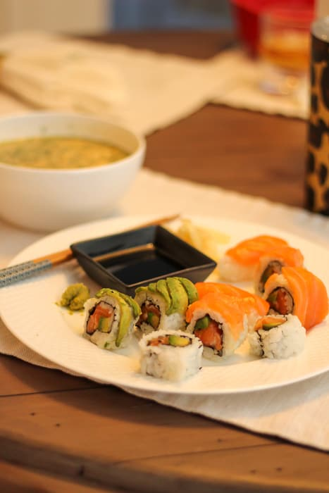 Friday sushi dinner by A Lady Goes West