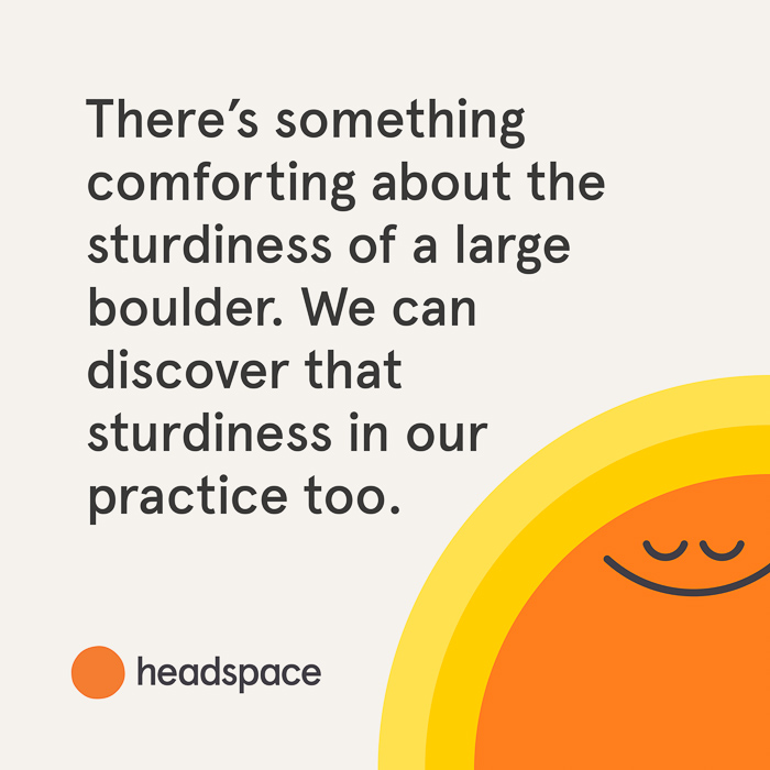 Meditation practice quote from Headspace by A Lady Goes West