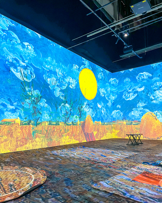 Van Gogh Experience in Charlotte. NC by A Lady Goes West