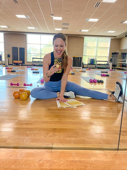 Group fitness instructor by A Lady Goes West