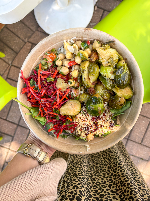 Yafo lunch bowl by A Lady Goes West