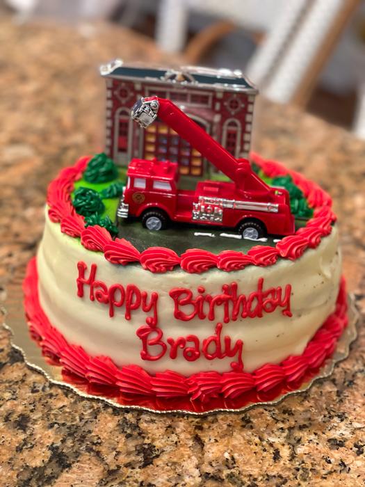 Brady birthday cake by A Lady Goes West