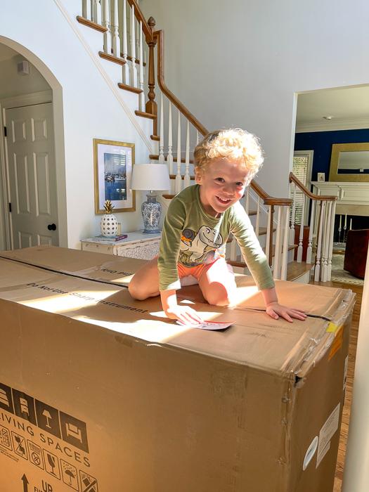 Brady on the box by A Lady Goes West