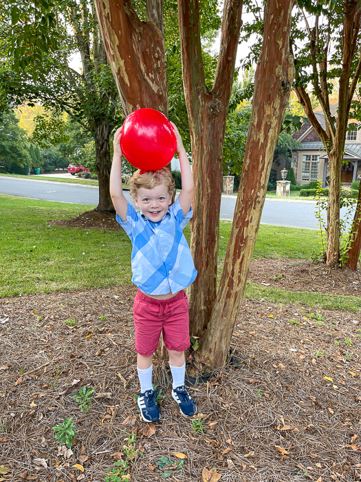 Brady with balloon by A Lady Goes West