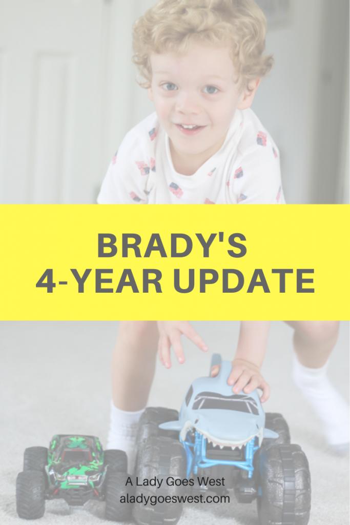 Brady's 4-year update by A Lady Goes West