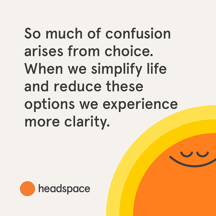 Headspace quote about choices by A Lady Goes West