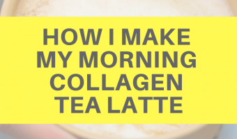 How I make my morning collagen tea latte by A Lady Goes West